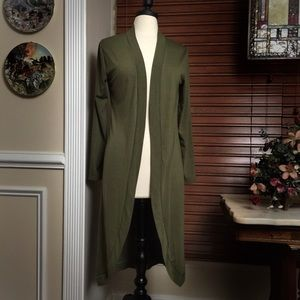 Sweaters - Long Green Sweater Duster